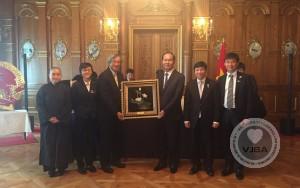 Buổi làm việc của đoàn chủ tịch nước Cộng hòa xã hội chủ nghĩa Việt Nam ông Trần Đại Quang