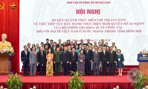 Ông Vũ Hoàng Đức tham dự Hội nghị Sơ kết 05 năm thực hiện Chỉ thị số 45-CT/TW về công tác đối với người Việt Nam ở nước ngoài  trong tình hình mới.