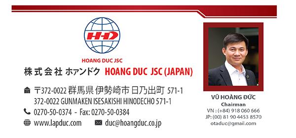 Anh Vũ Hoàng Đức - Chủ tịch Hiệp hội Doanh nghiệp Việt Nam tại Nhật Bản